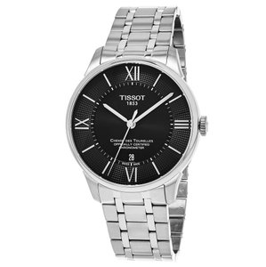 Tissot Chemin Des Tourelles Roman Numerals Stainless Steel Round Men's Watch