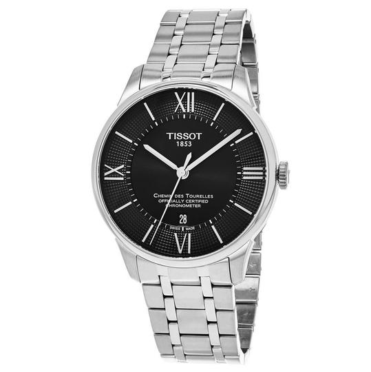 Preload https://img-static.tradesy.com/item/25192267/tissot-black-silver-tone-chemin-des-tourelles-roman-numerals-stainless-steel-round-men-s-watch-0-0-540-540.jpg