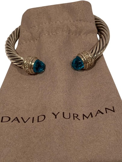 Preload https://img-static.tradesy.com/item/25192273/david-yurman-blue-topaz-sterling-silver-7mm-cable-classic-cuff-with-diamond-bracelet-0-1-540-540.jpg