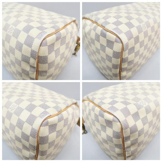 Louis Vuitton Lv Speedy 30 Azur Canvas Tote in White Image 5