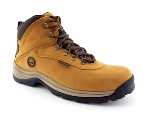 Timberland Beige Nubuck Leather Waterproof Lace-up Hiking Men's Boots Shoes