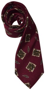 Chanel CHANEL deep red silk twill cravotte / necktie