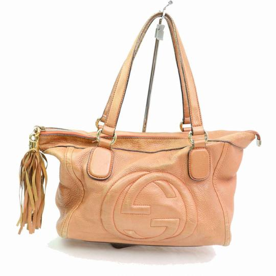 Preload https://img-static.tradesy.com/item/25192453/gucci-browns-411g4184-pink-leather-tote-0-0-540-540.jpg