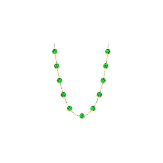 Preload https://img-static.tradesy.com/item/25192463/green-created-emerald-14k-yellow-gold-bezel-set-200-cttw-necklace-0-0-540-540.jpg