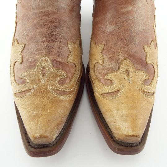 Corral Boots Eagle A2227 Brown Block Heel Cowgirl Beige Tan Boots Image 3