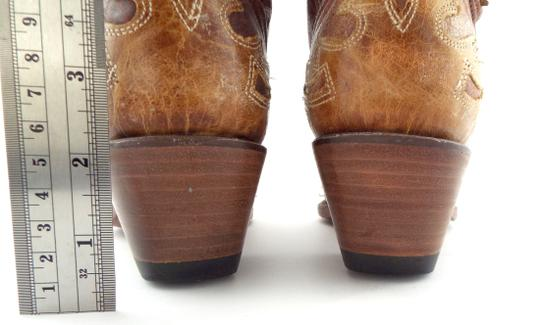 Corral Boots Eagle A2227 Brown Block Heel Cowgirl Beige Tan Boots Image 7