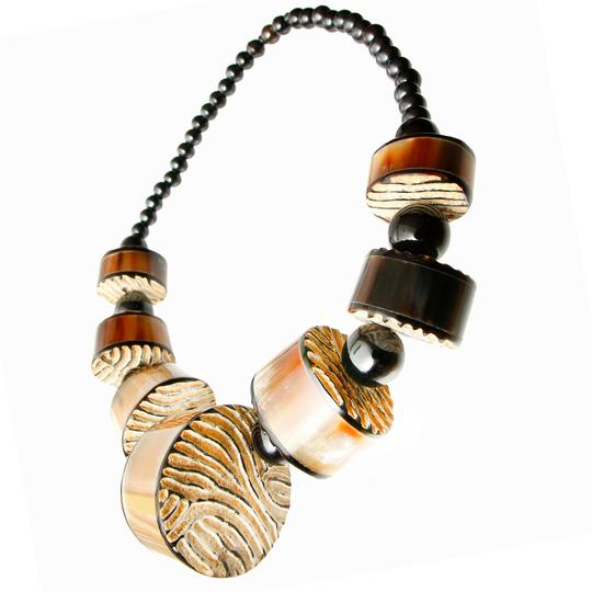 SOPHIA Carved Buffalo Horn Necklace Image 1
