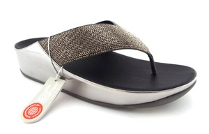 FitFlop Crystall Lulu Strobe Luxe Silver Sandals