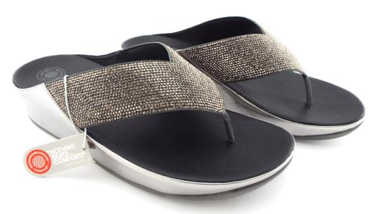 FitFlop Crystall Lulu Strobe Luxe Silver Sandals Image 1