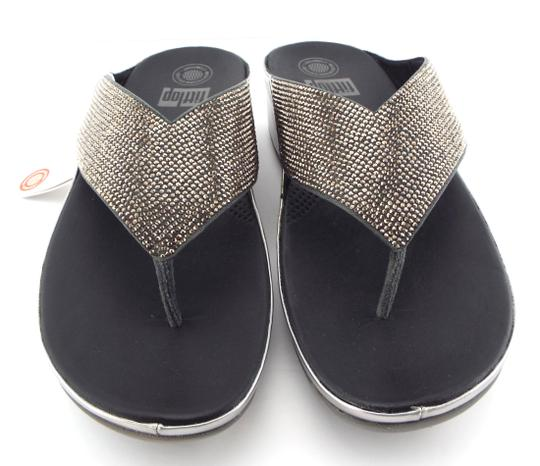 FitFlop Crystall Lulu Strobe Luxe Silver Sandals Image 2