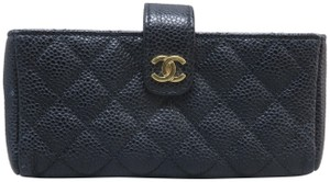 Chanel Chanel Black Quilted O-Phone Holder
