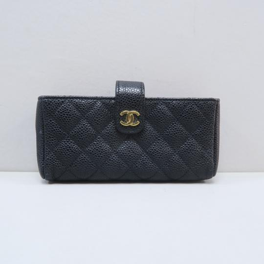Chanel Chanel Black Quilted O-Phone Holder Image 1