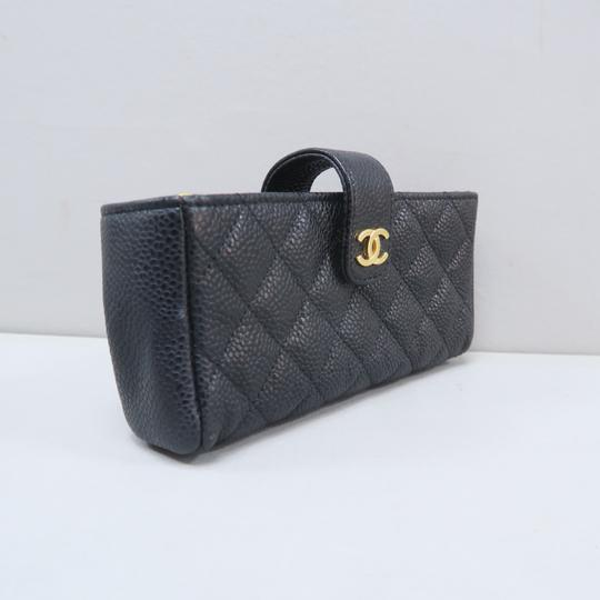 Chanel Chanel Black Quilted O-Phone Holder Image 3
