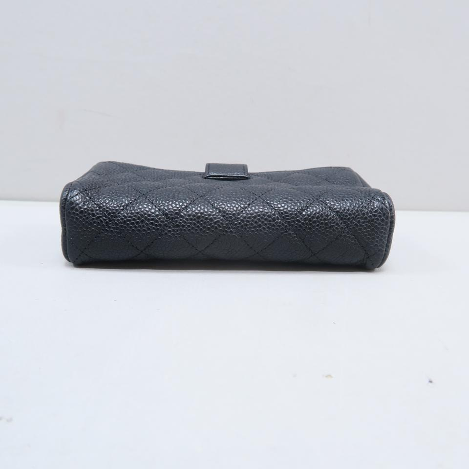 81b34e1a501258 Chanel Chanel Black Quilted O-Phone Holder Image 11. 123456789101112