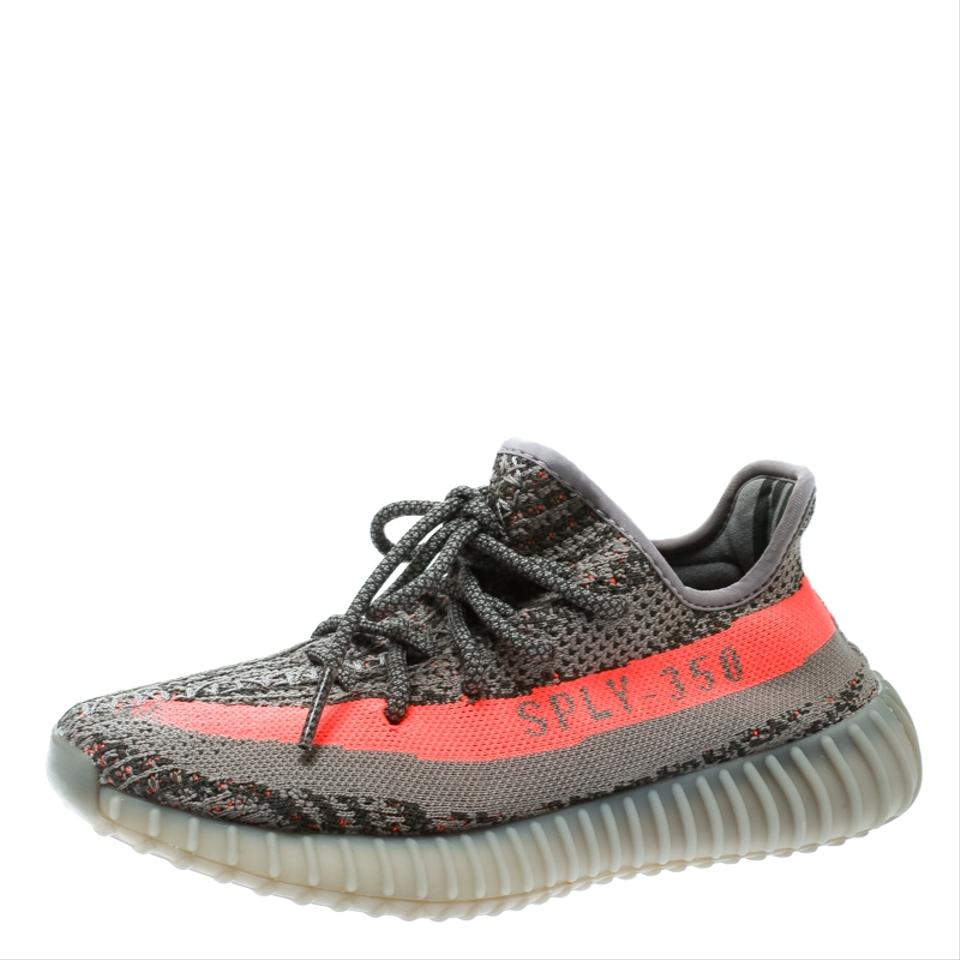 reputable site e397a facee YEEZY Grey X Adidas Two Tone Cotton Knit Boost 350 V2 Zebra Sneakers Flats  Size EU 37.5 (Approx. US 7.5) Regular (M, B)