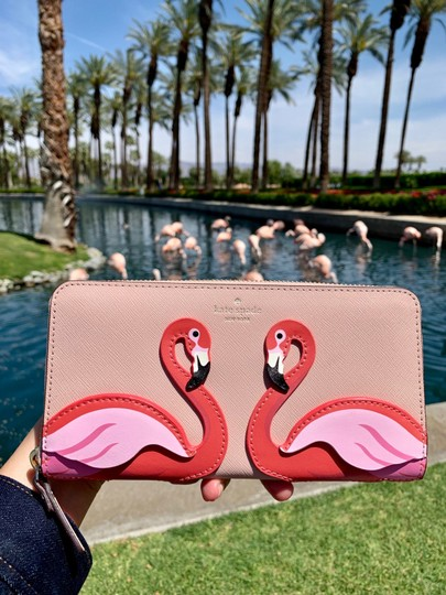 Kate Spade Kate Spade Flamingo By The Pool Large Continental Wallet Image 4