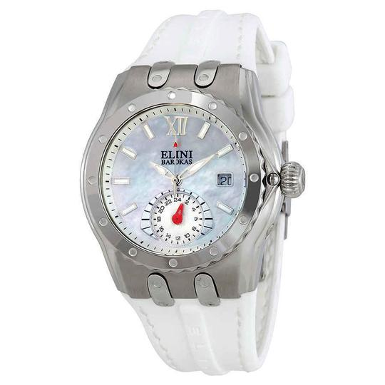 Preload https://img-static.tradesy.com/item/25192667/white-mother-of-pearl-genesis-vision-roman-numeral-gmt-stainless-steel-quartz-ladies-watch-0-0-540-540.jpg