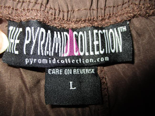 The Pyramid Collection Ruffled Fringed Boho Oo1 Onm Skirt brown Image 7