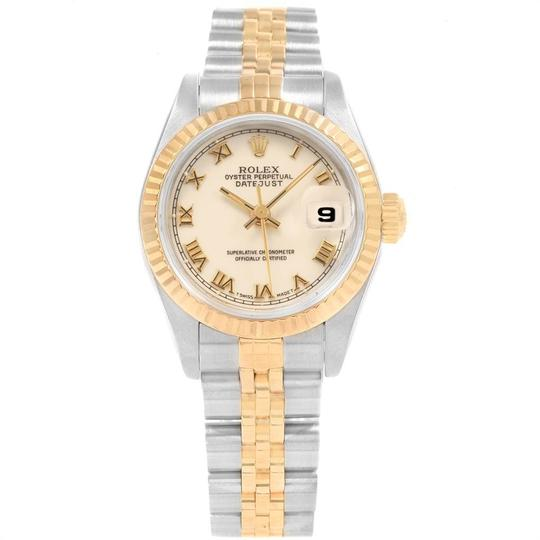 Rolex Rolex Datejust 26mm Steel Yellow Gold Ladies Watch 69173 Box Papers Image 1