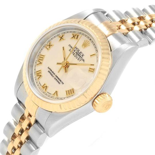Rolex Rolex Datejust 26mm Steel Yellow Gold Ladies Watch 69173 Box Papers Image 4