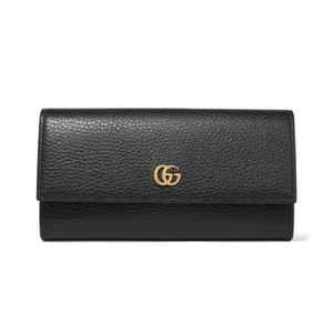 Gucci Marmont GG leather continental flap long wallet
