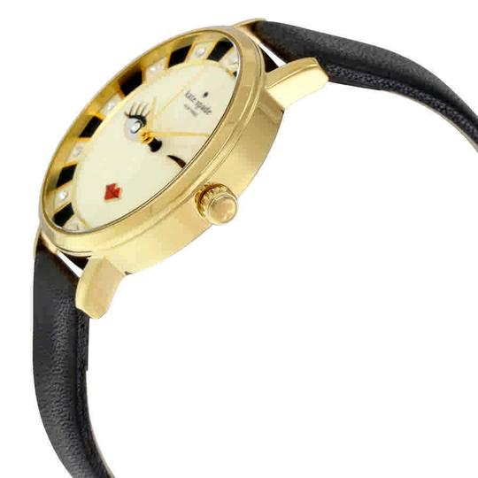 Kate Spade Crystal Gold-plated Stainless Steel Leather Quartz Round Ladies Watch Image 1