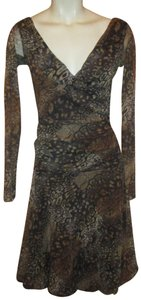 Weston Wear Mesh Mock Wrap Animal Print 001 Onm Dress