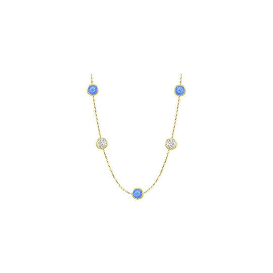Preload https://img-static.tradesy.com/item/25192782/blue-created-sapphires-and-czs-on-14k-yellow-gold-bezel-set-5000-ctt-necklace-0-0-540-540.jpg