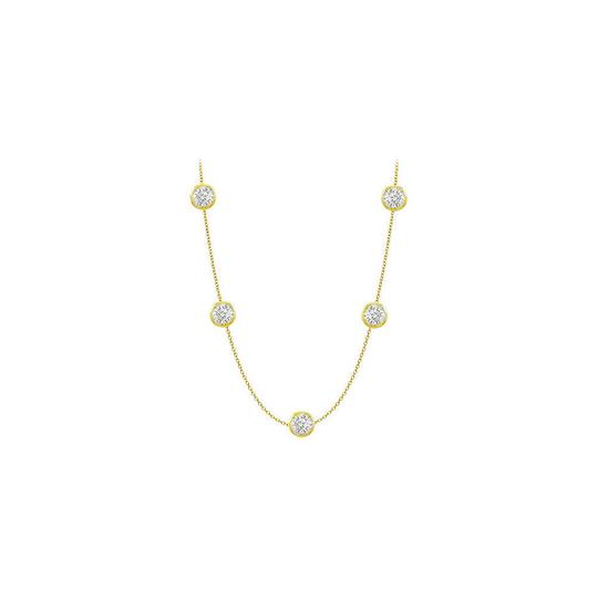 Preload https://img-static.tradesy.com/item/25192810/white-cubic-zirconia-yellow-gold-14k-with-50-carat-tgw-36-inch-l-necklace-0-0-540-540.jpg