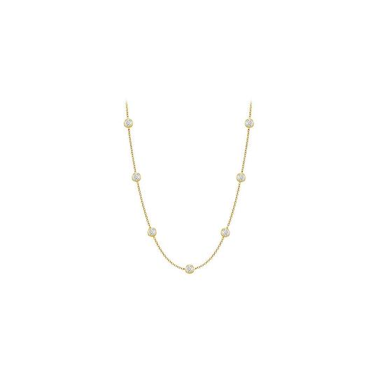 Preload https://img-static.tradesy.com/item/25192854/yellow-diamonds-14k-gold-bezel-set-015-cttw-necklace-0-0-540-540.jpg