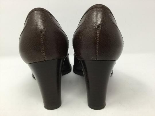 Talbots S040218-19 Leather brown Pumps Image 4