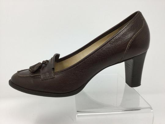 Talbots S040218-19 Leather brown Pumps Image 5