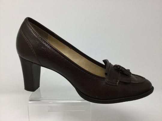 Talbots S040218-19 Leather brown Pumps Image 6