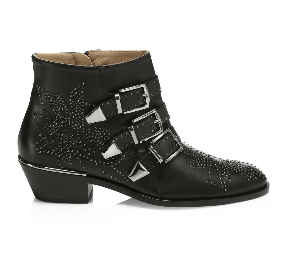 14bae5cb Chloé Black Susanna Hardware Leather Ankle 7 Boots/Booties Size EU 37  (Approx. US 7) Regular (M, B)