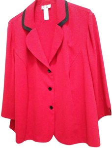 R&K Originals Casual Contrast Structured Sporty Red & Black Blazer
