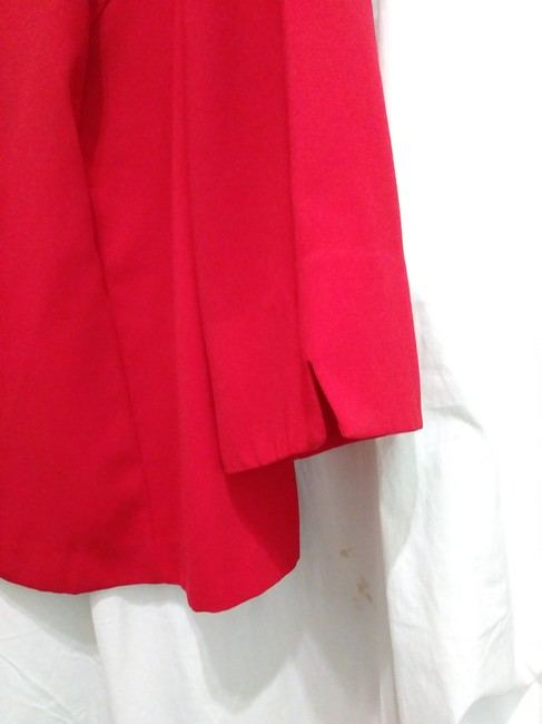 R&K Originals Casual Contrast Structured Sporty Red & Black Blazer Image 4
