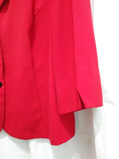 R&K Originals Casual Contrast Structured Sporty Red & Black Blazer Image 5