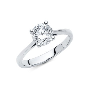 Top Gold & Diamond Jewelry Round-Cut Basket-Set 1.25-CT CZ Engagement Ring in 14K White Gold