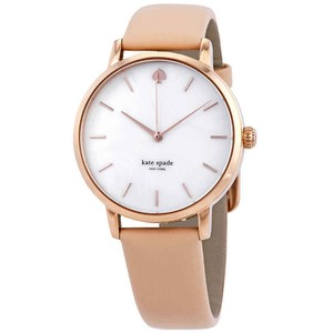 Kate Spade Metro Index Marker Gold S.Steel Leather Quartz Round Ladies Watch