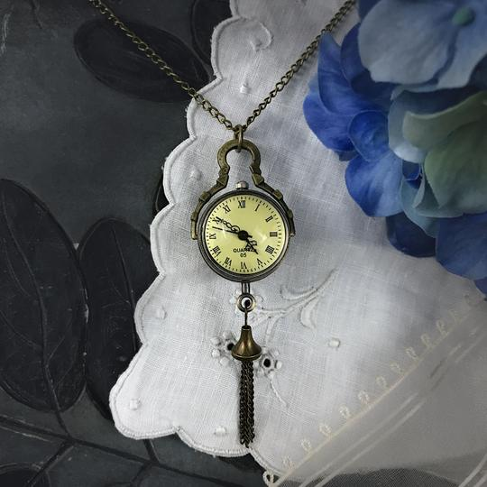 Other Glass Ball Pocket Watch Necklace Quartz Mechanical Skeleton Back Image 7