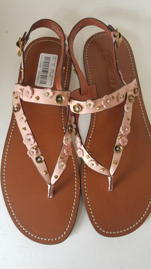 Coach soft pink/ nude Sandals Image 4