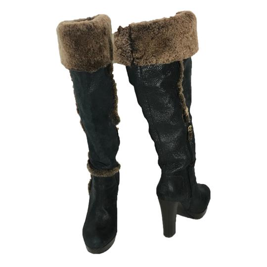 Tory Burch Black/Brown Boots Image 2