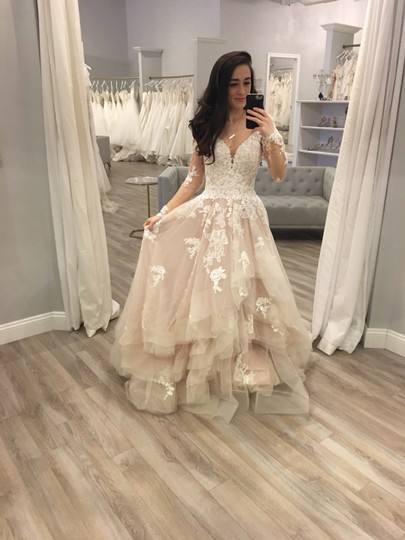 Preload https://img-static.tradesy.com/item/25193096/essense-of-australia-ivory-moscato-tulle-d2186-feminine-wedding-dress-size-0-xs-0-0-540-540.jpg