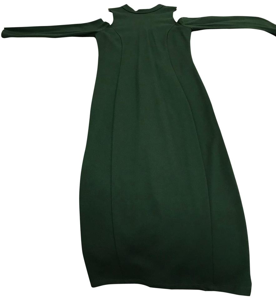 080fc1ae FELICITY & COCO Mountain View Green Kenly Cold Shoulder Midi Night Out Dress