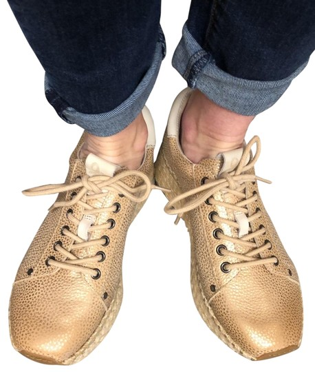 OTBT Espadrille Metallic New Gold Athletic Image 2