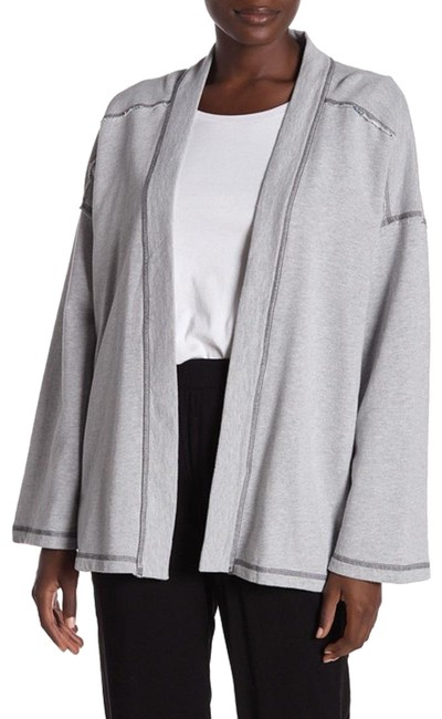 Preload https://img-static.tradesy.com/item/25193250/michael-stars-gray-reversible-open-front-cardigan-size-12-l-0-1-650-650.jpg