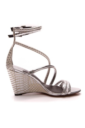Brian Atwood Silver Sandals Image 3