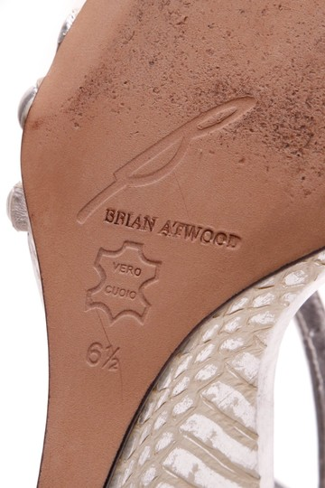 Brian Atwood Silver Sandals Image 6