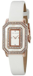 Ted Baker 10023481 Women's White Leather Band With White Analog Dial Watch