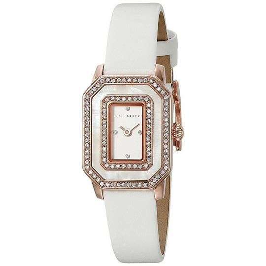 Ted Baker 10023481 Women's White Leather Band With White Analog Dial Watch Image 1